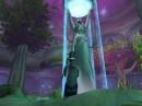 Моя ночная элфишка Янаева, жрец, прямо памятника Элуны, Дарнассус.
