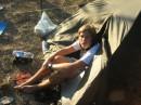 Олежка, палатка и мои тапки.. :)))))))