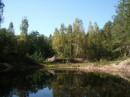 Лесное озеро. Глубокое и холодное, а временами красивое:)